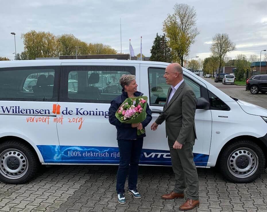 Willemsen- De Koning verwelkomt 2000ste chauffeur